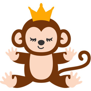 monkey and crown