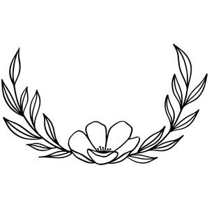 laurel flower wreath