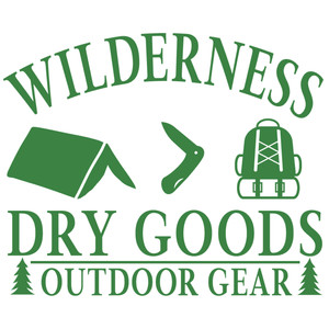 wilderness dry goods sign