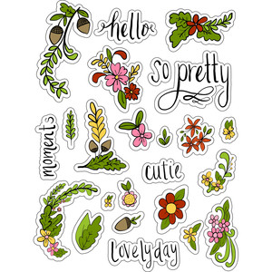 ml ferns and pretties stickers