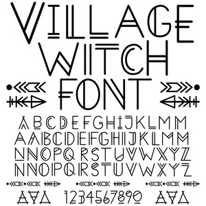 sg village witch font