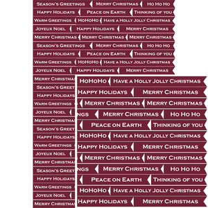christmas burgundy sentiment banner stickers