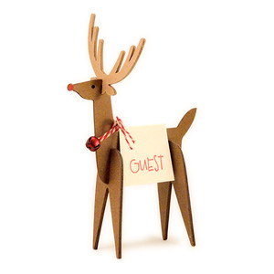 reindeer place card holder