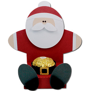 santa chocolate belly holder