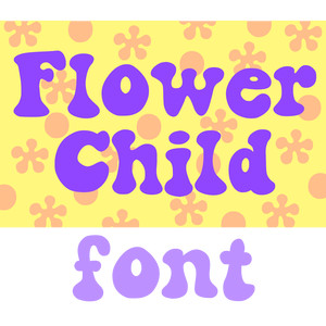 flower child font