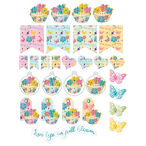all occasion floral cupcake tags and stickers