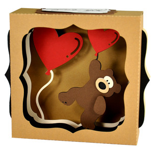 valentine teddy gift card box
