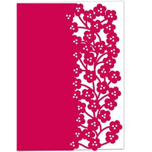 spring blossom lace edged card
