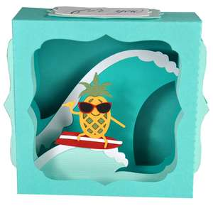 surfing pineapple gift card box