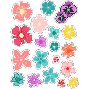 ml sweet little flowers stickers