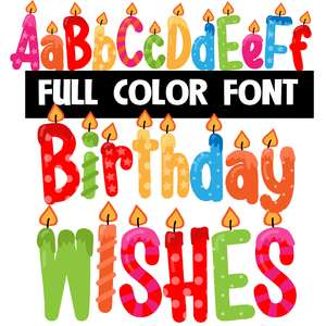 birthday wishes color font