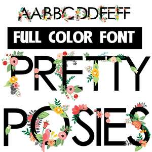 pretty posies color font