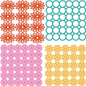4 flower lace backgrounds