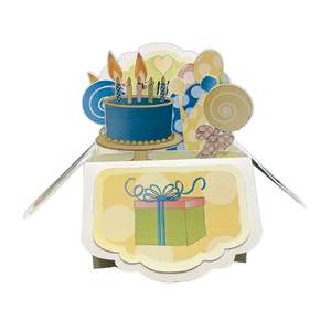 5x7 birthday popup card in a box
