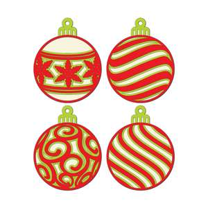 3d layered christmas bundle 4 ornaments multi layer mandala