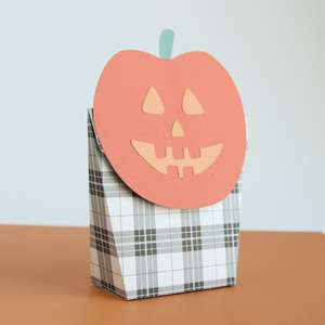 jack o lantern fold over treat bag