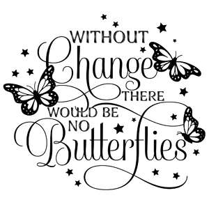 without change there would be no butterflies quote