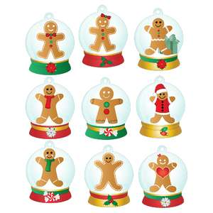 gingerbread people snow globe gift tags
