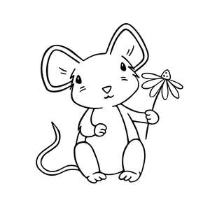 cute mouse animal illustration