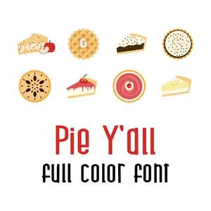 pie y'all full color font