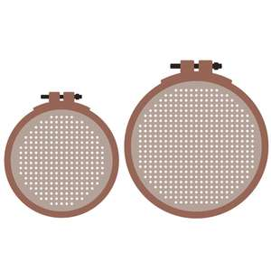 embroidery hoops for cross stitch