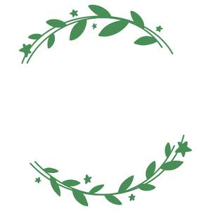 stars and leaves wreath