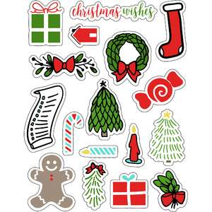 ml christmas friends stickers