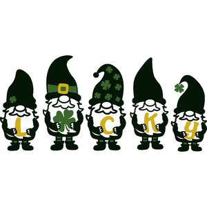 lucky gnomes for st. patrick's day