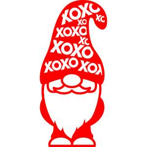gnome with xoxo hat