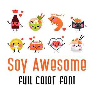 soy awesome full color font