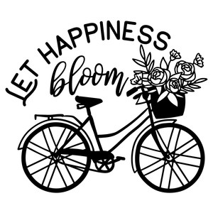 let happiness bloom bicycle