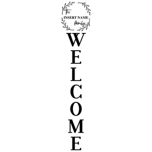 welcome - vertical design
