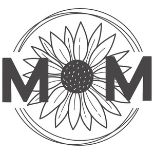 mom round circle sunflower