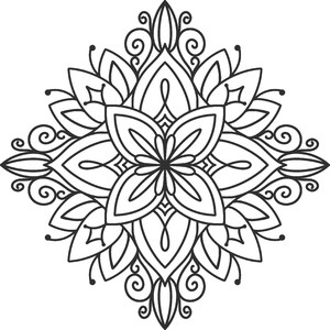 floral diamond mandala