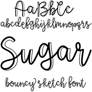 sugar bouncy sketch font