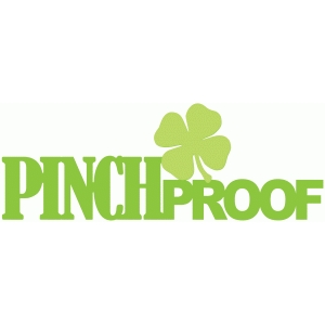 pinch proof with shamrock