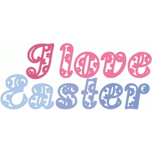 i love easter paisley
