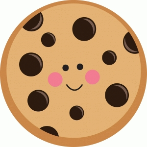 cute chocolate chip cookie character