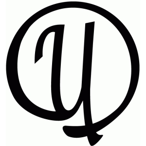 round flourish monogram - u