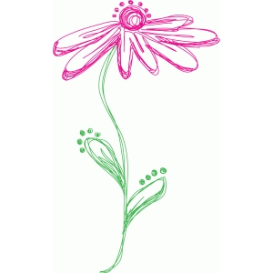 flower with dots sketch