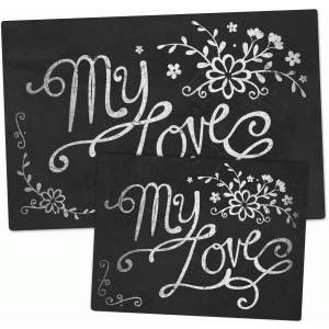chalkboard set - my love