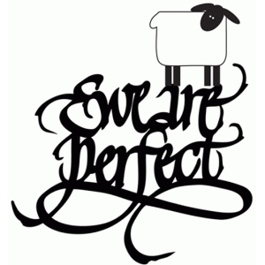 ewe are perfect - word phrase