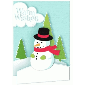 card snowman warm wishes
