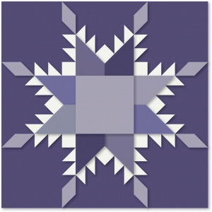 feathered star quilt block paper craft