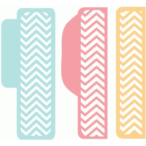 set of 3 chevron tabs