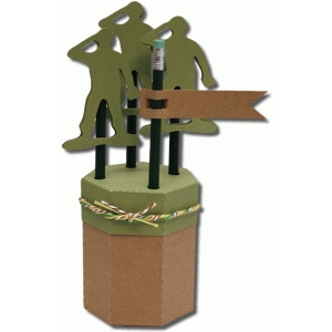 3d army pencil holder gift