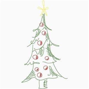 sketch christmas tree