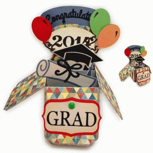 graduation box card