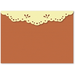 lacy flap 5x7 envelope