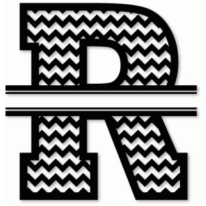 chevron split monogram r